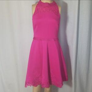 Ted Baker Fuschia Pink Skater Mini Dress